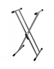 BS Keyboard Stands Easy Gear System Silver-grey