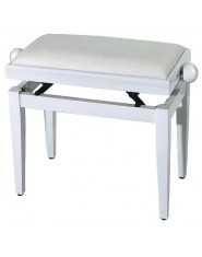 FX Piano bench White high gloss White seat