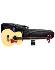 TENSON E-Acoustic Bass B-SM Solid Top Natural, matt