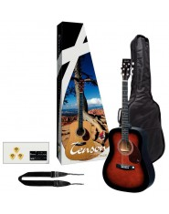 TENSON Acoustic Guitar Player Pack Guitar violinburst