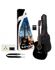 TENSON Acoustic Guitar Stage Pack Guitar black