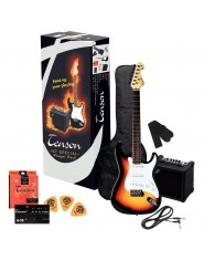 TENSON E-Guitars ST Player Pack 3-Tone Sunburst