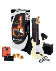 TENSON E-Guitars ST Player Pack Vintage White