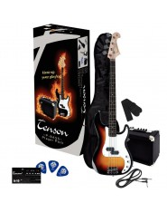 TENSON E-Bass P Player Pack 3-Tone Sunburst