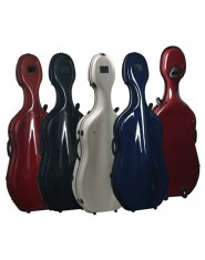 Gewa Cello cases Idea Futura Rolly black/burgundy