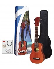 TENSON Ukulele Player Pack Ukulele red brown