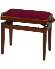 Piano bench de Luxe Cherry tree high gloss Dark red seat
